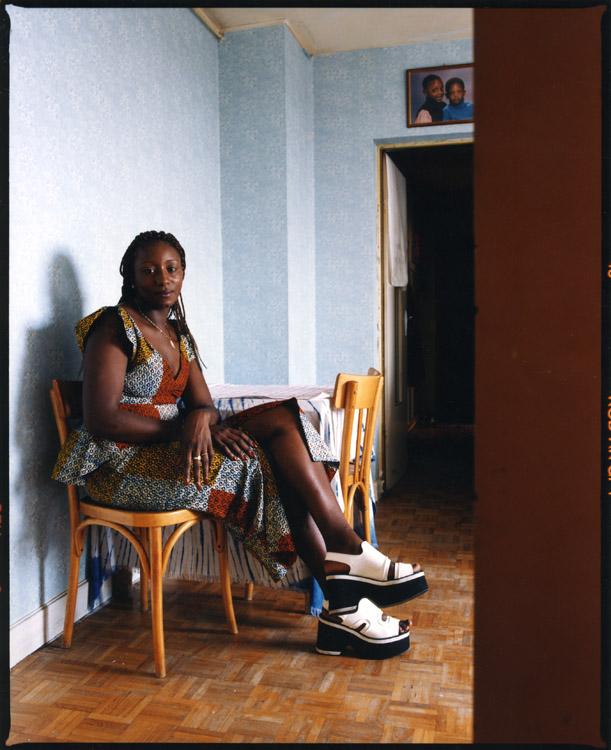 Doua Sidibe, actrice. Une photographie réalisée à deux, avec Olivier Pasquiers.