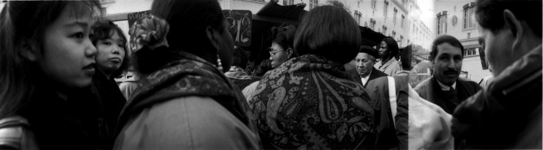 SSur le marché du Boulevard de Belleville. 1993.