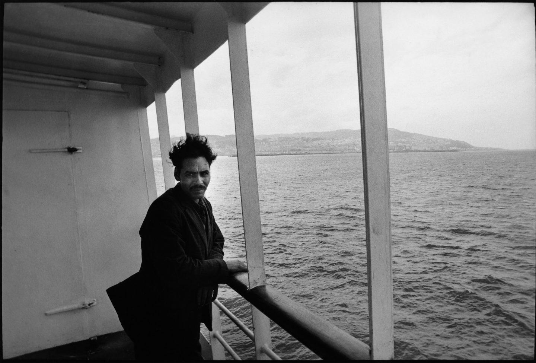 Sur le bateau entre Alger et Marseille, mai 1972.