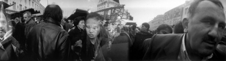 Sur le marché du Boulevard de Belleville. 1993.