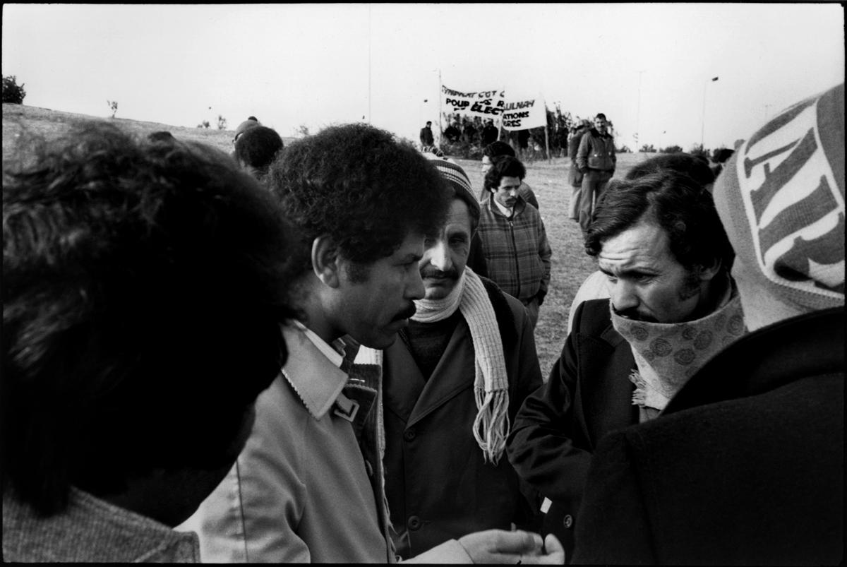 Citroën Aulnay, la première grève. 1982.. Organisation des piquets de grève,.