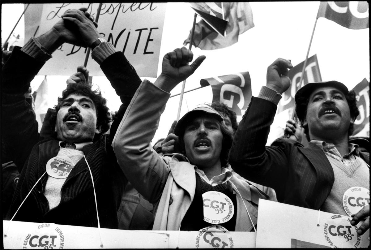 Manifestation des grévistes à Paris, le 1er mai 1982.