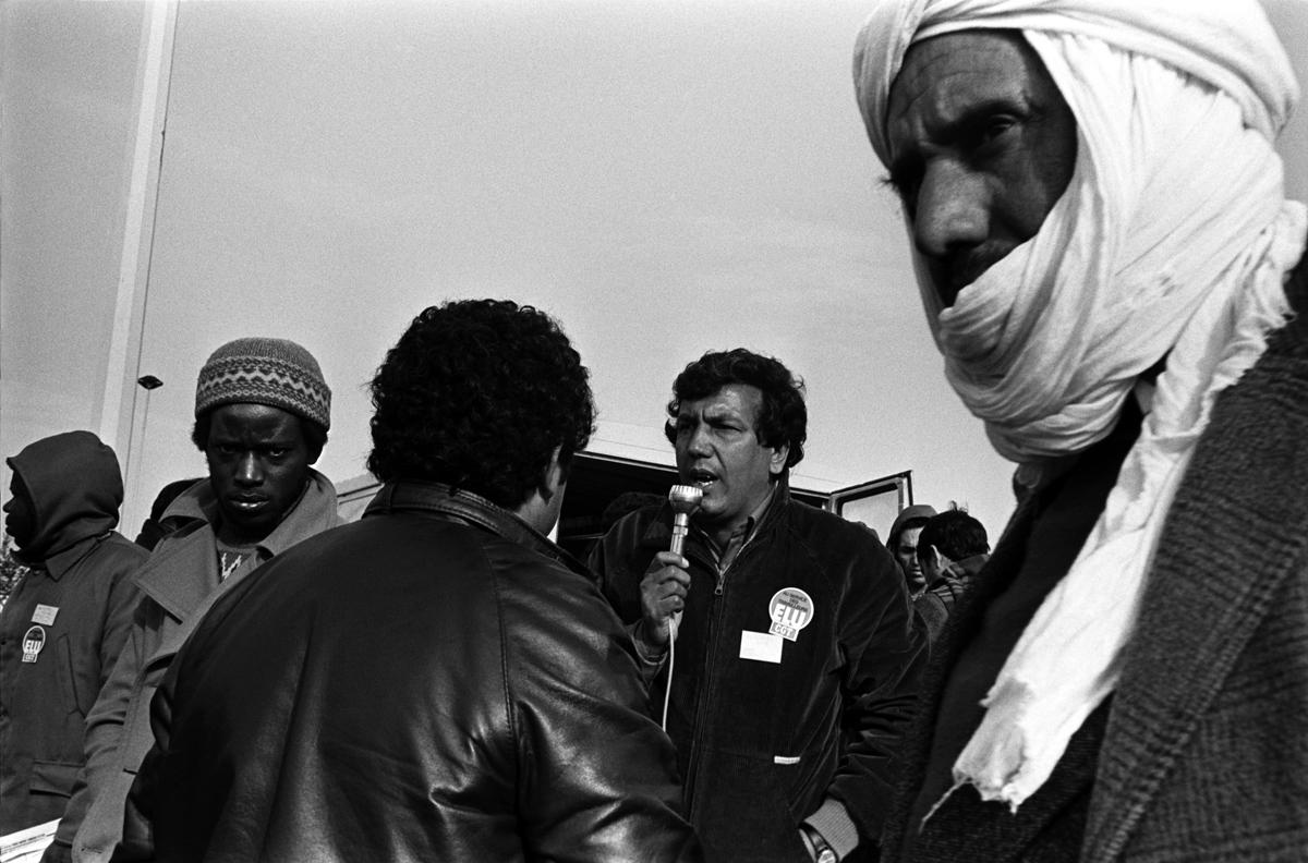 Citroën Aulnay, la première grève. 1982.. Le délégué syndical CGT, Akka Ghazzi.