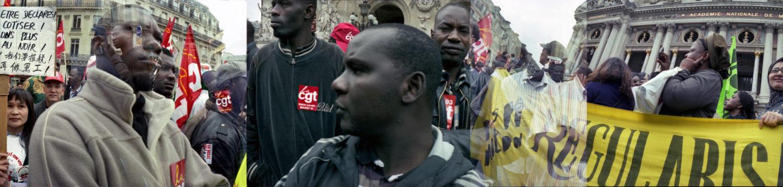 Pour la rŽégularisation des travailleurs sans-papiers. Place de l'OpŽéra, Paris, octobre 2009.