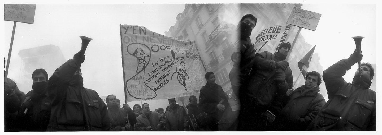 Cheminots contre le plan Juppé. Décembre 1995