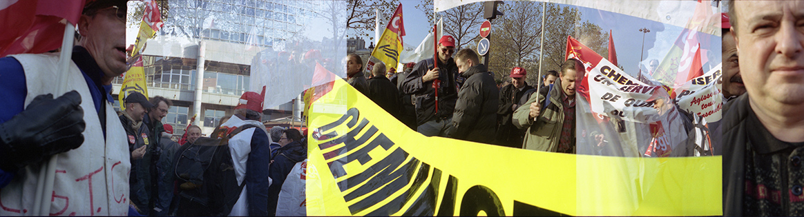Manifestation de cheminots, Paris, novembre 2004.