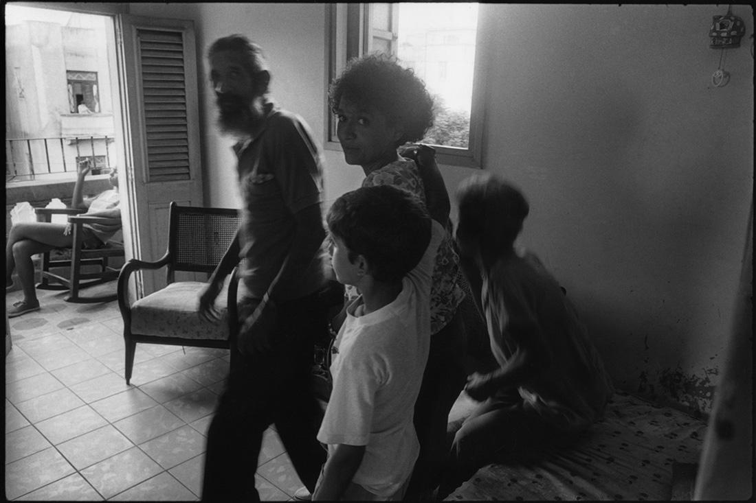 Calle 19, La Havane. Le père nous dira avoir été dans la sierra avec Fidel et le Che.