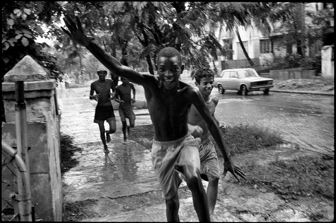 Pluie, calle 19,  La Havane.