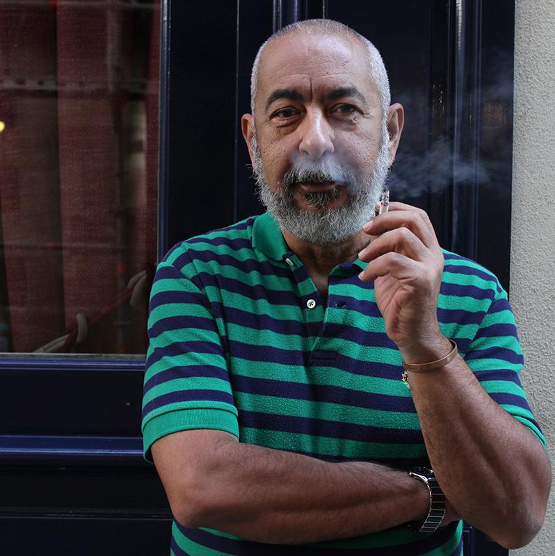 """Léonardo PADURA, de passage à Paris en 2014 pour présenter son roman """"Hérétiques""""."""